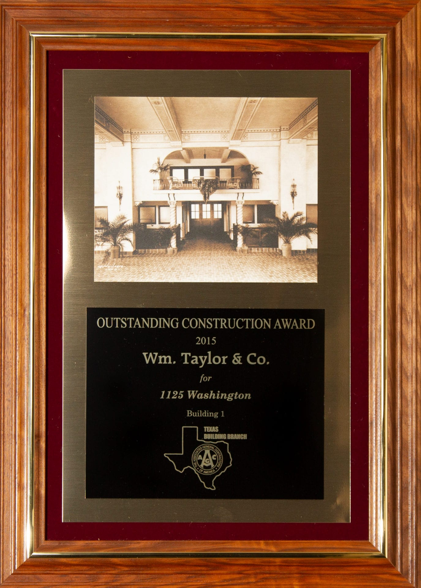 Wm. Taylor & Co. General Contractors - Outstanding Construction Award 2015