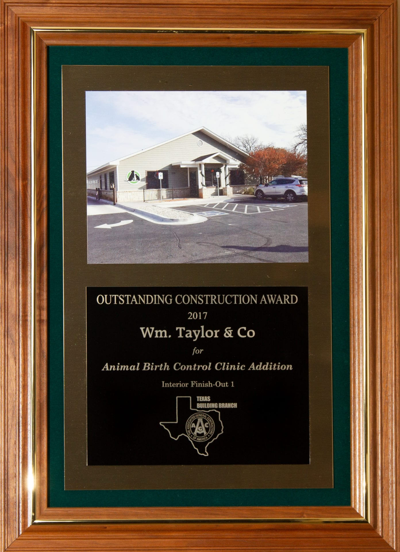 Wm. Taylor & Co. General Contractors - Outstanding Construction Award 2017