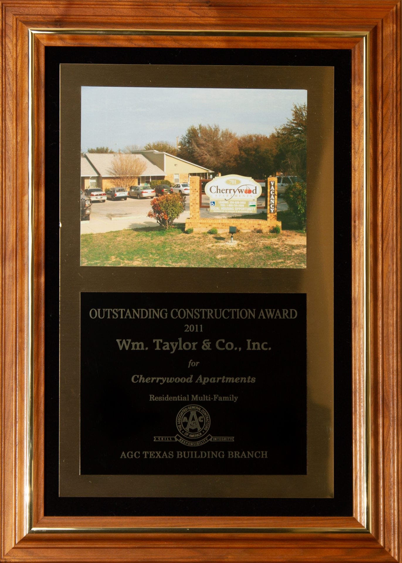 Wm. Taylor & Co. General Contractors - Outstanding Construction Award 2011