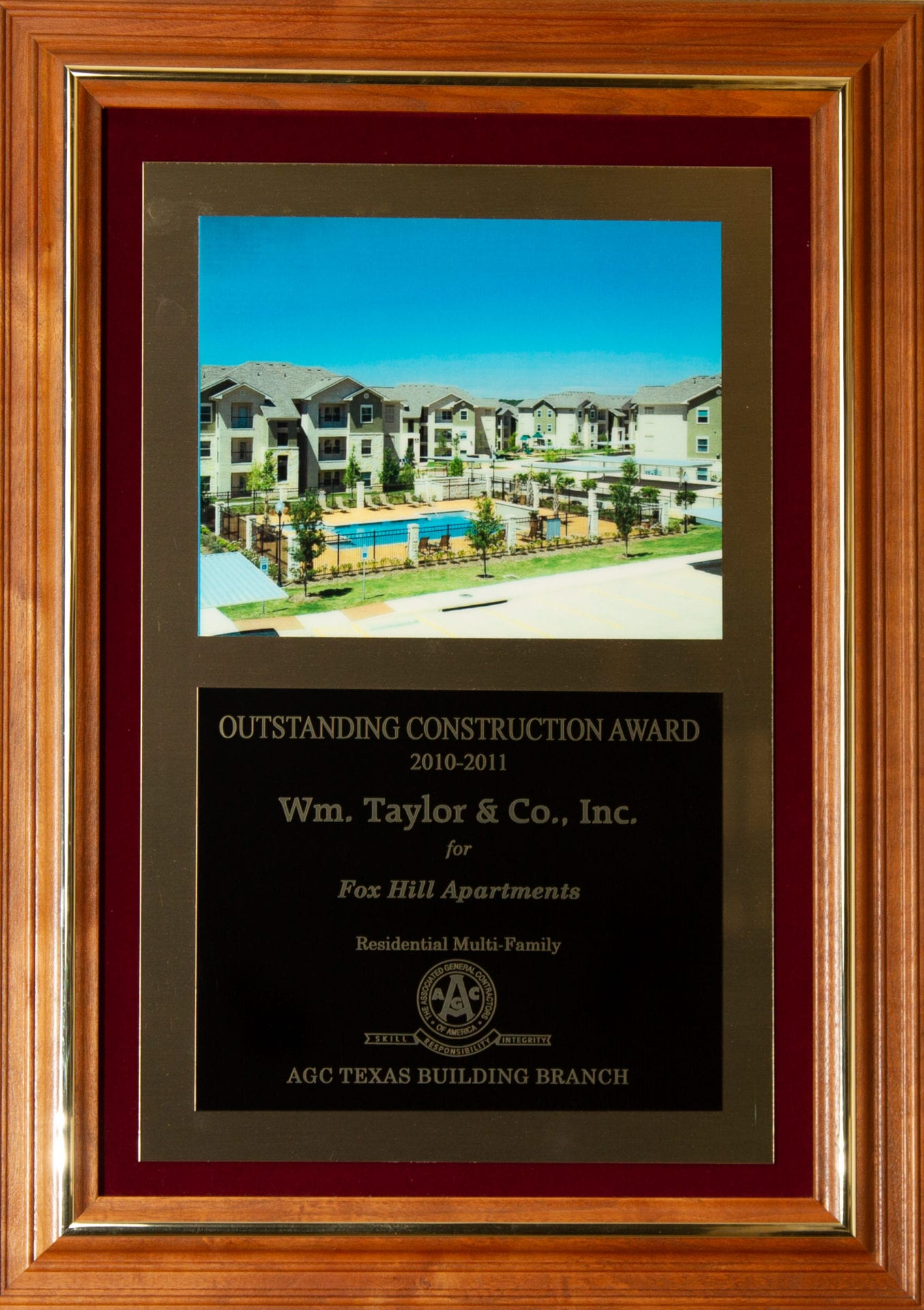 Wm. Taylor & Co. General Contractors - Outstanding Construction Award 2010-2011